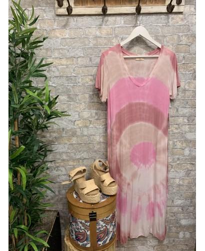 Vestido Circulos rosa