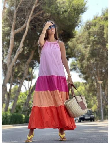 Vestido Emoción rosa