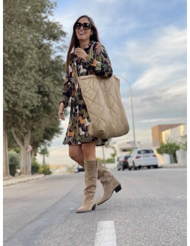 Maxi bolso shopping camel (ref 04)