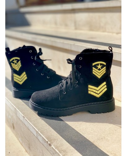 Botines army negros