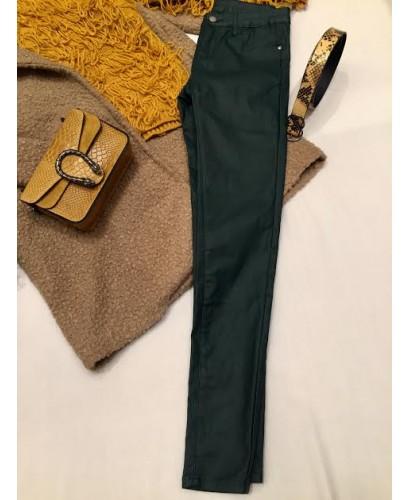 Pantalón encerado verde...