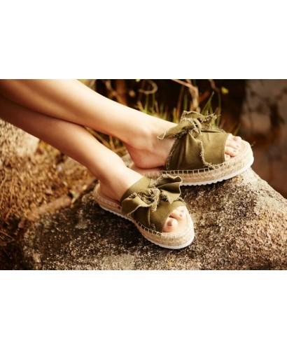 Sandalia lazo kaki