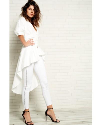 Pantalón blanco strass