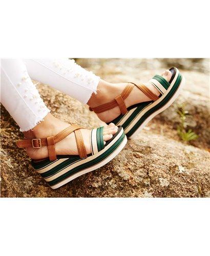 Sandalía arena verde