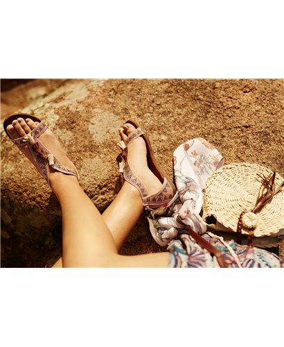 Sandalía strass pink