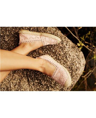 Sandalía cuarzo rosa