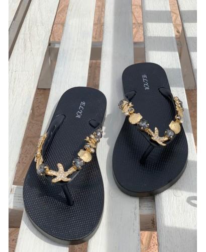 Sandalia marinera oro