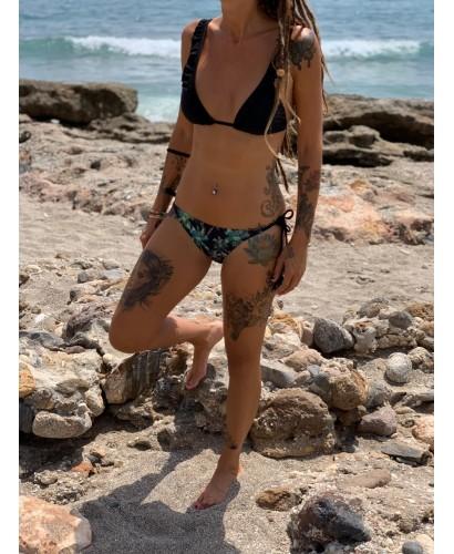 Bikini palmeras negro