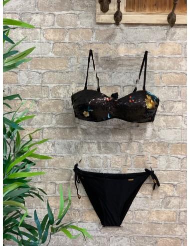 Bikini lentejuelas negro