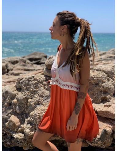 Vestido Sombra naranja