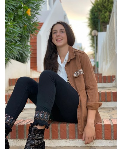 Chaqueta Chocolate brillo