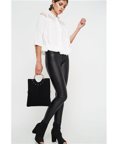 Pantalones  encerado negro
