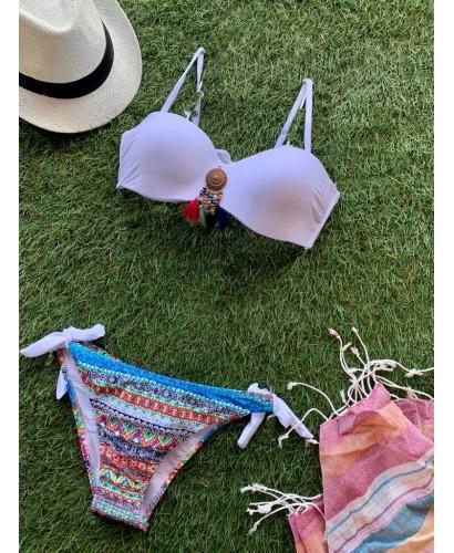 Bikini étnico blanco