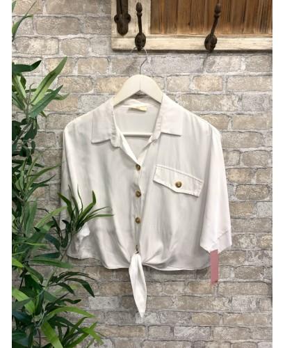 Camisa nudo blanca