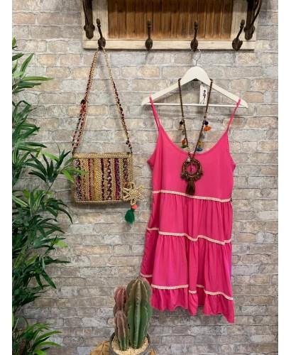 Vestido capricho rosa
