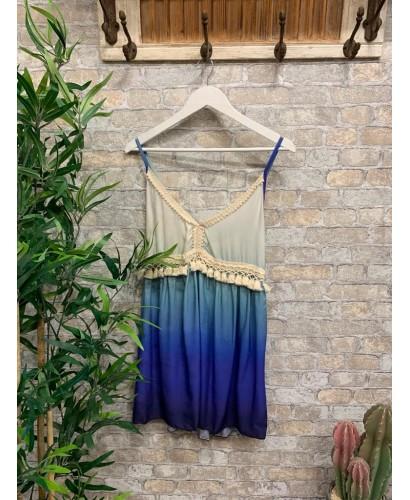 Vestido Sombra azul